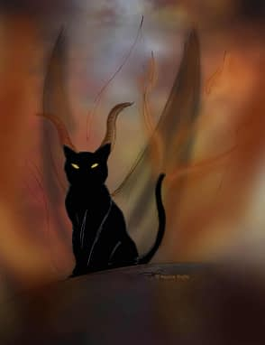 superstition chat noir- marion ruffie - absolument chats